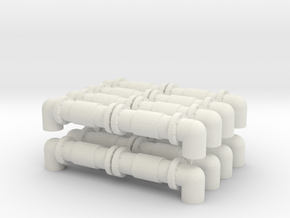 Industrial Pipeline (x8) 1/285 in White Natural Versatile Plastic