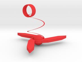 Triangle charm in Red Processed Versatile Plastic: Medium