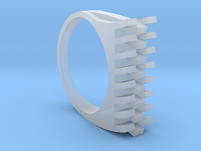 Tri-Fold Edge Ring - US Ring Size 07 in Smooth Fine Detail Plastic