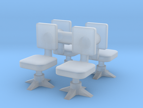 Office chair (x4) 1/100 in Smooth Fine Detail Plastic