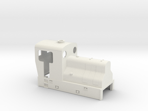 OO9 Cheap and easy Sentinel loco  in White Natural Versatile Plastic