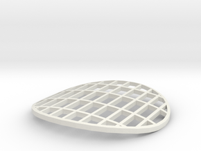 1:32 Class 25/3 Roof Grill in White Natural Versatile Plastic