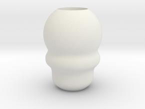 DMC 5 Nero Pendant Bead in White Natural Versatile Plastic