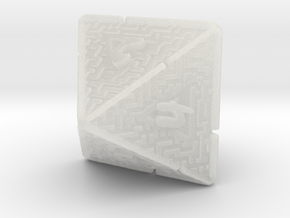 8 Sided Maze Die V2 in Smooth Fine Detail Plastic