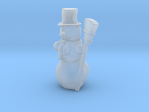 S Scale Snowman in Smooth Fine Detail Plastic