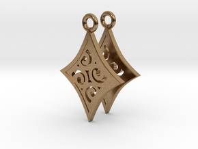 Ace Earrings - Diamonds in Natural Brass