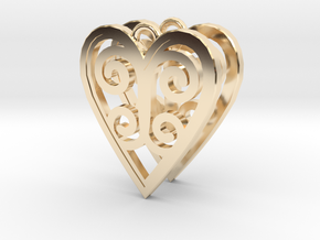 Ace Earrings - Hearts in 14K Yellow Gold
