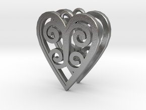 Ace Earrings - Hearts in Natural Silver