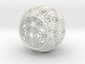 Tealight Design in White Natural Versatile Plastic