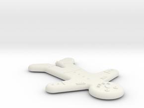 3125 Scale North Polar Gingerbread Attack Cruiser  in White Natural Versatile Plastic