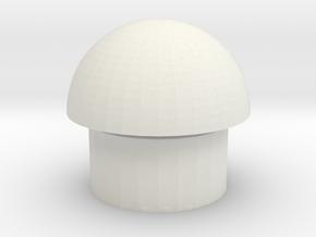 Mushroom shape chair in White Natural Versatile Plastic
