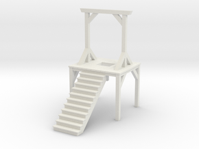 Gallows - Double Posted, Dropped (N Scale) in White Natural Versatile Plastic