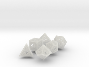 Woven Dice - Big in Smooth Fine Detail Plastic