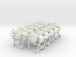 Cement mixer 02 .Scale 1:43 in White Natural Versatile Plastic