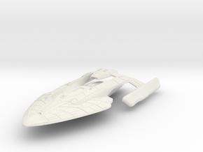 "Federation Ancient class refit HvyCruiser V3 4.1""  in White Natural Versatile Plastic"