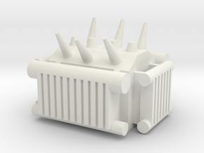 Electrical Transformer 1/87 in White Natural Versatile Plastic