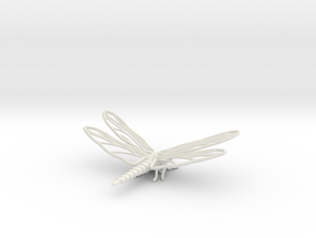 Dragonfly in White Natural Versatile Plastic