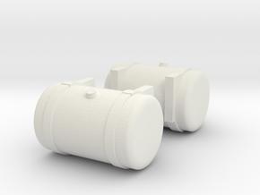 1/50th Truck Diesel fuel tank 36 inch in White Natural Versatile Plastic