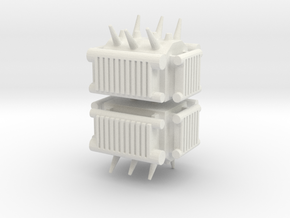 Electrical Transformer (x2) 1/200 in White Natural Versatile Plastic