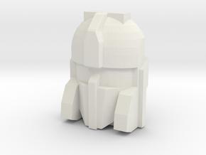 Cerebros Face, 4cm Version in White Natural Versatile Plastic
