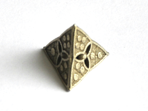 D4 Balanced - Shield in Polished Bronzed-Silver Steel