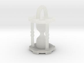 HourglassPendantSmaller in Smooth Fine Detail Plastic