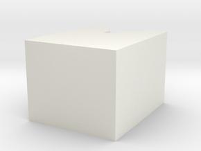 V-Shaped Pillow in White Natural Versatile Plastic: Medium