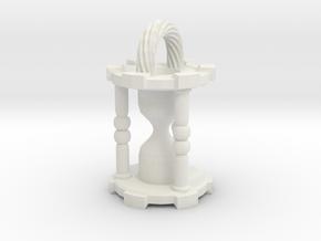 HourglassPendant in White Natural Versatile Plastic
