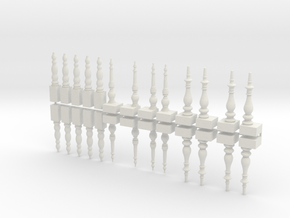Table Legs - Set in White Natural Versatile Plastic