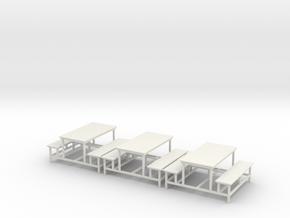 School Benches in White Natural Versatile Plastic