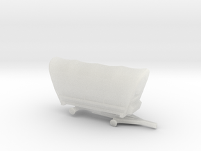 Z Scale Covered Wagon - No Wheels in Frosted Ultra Detail