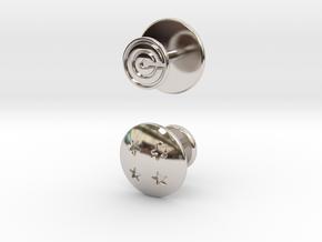 Dragon Ball - Capsule Cufflinks - V2 (4 stars) in Rhodium Plated Brass
