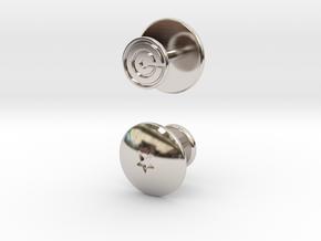 Dragon Ball - Capsule Cufflinks - V2 (1 star) in Rhodium Plated Brass