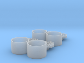 """1/25 Rim Set 19"""" Snowflake Style in Smooth Fine Detail Plastic"""