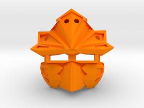 Mask of Speed in Orange Processed Versatile Plastic