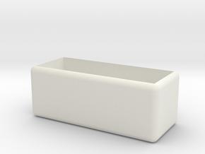 Desktop storage box (large) in White Natural Versatile Plastic