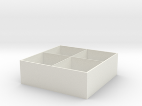 Removable partition storage cabinet in White Natural Versatile Plastic