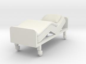 Hospital Bed 1/12 in White Natural Versatile Plastic