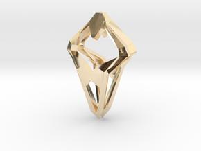 Prototype, Pendant. Sharp Chic in 14K Yellow Gold