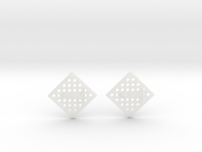 Chess Earrings - Bishop in Smooth Fine Detail Plastic