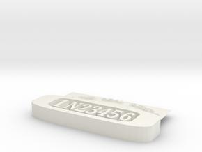 1N23456 TAG in White Natural Versatile Plastic