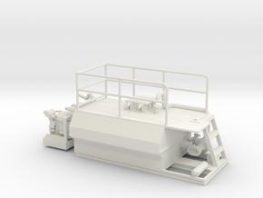 1/50th Hydroseeder 12' Skid sprayer in White Natural Versatile Plastic