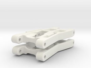 RC10 Part# 6206 Worlds Front Arms in White Natural Versatile Plastic