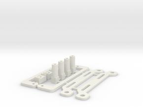 Kyosho Lazer ZX - Lipo Battery Tray Kit in White Natural Versatile Plastic