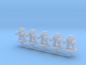 Aggressive Marines Flamer 6mm Infantry for Epic in Smooth Fine Detail Plastic
