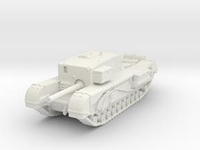 Churchill Gun Carrier 1/120 in White Natural Versatile Plastic