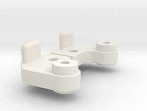 Kyosho Double Dare D Part Slide Rail End A block  in White Natural Versatile Plastic