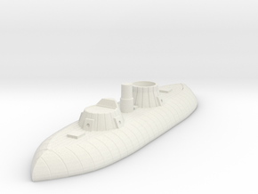1/600 USS Keokuk in White Natural Versatile Plastic