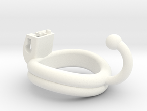 Cherry Keeper Ring - 42mm Double Ball Hook in White Processed Versatile Plastic