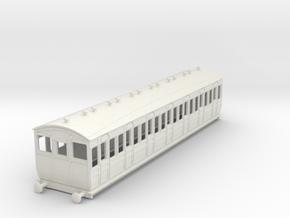 o-87-met-ashbury-bogie-third-class-driver-coach in White Natural Versatile Plastic